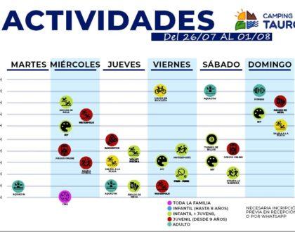 ACTIVIDADES DE 26 DE JULIO AL 01 DE AGOSTO!!!